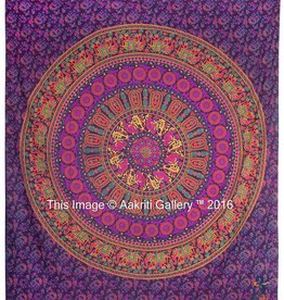 Tapestry Queen Elephant Flower (92x82)