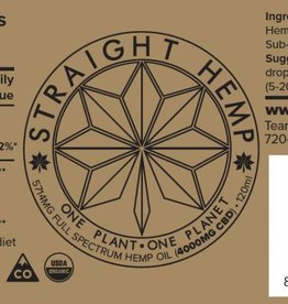 Straight Hemp CBD Oil 4000 mg CO Full Spectrum