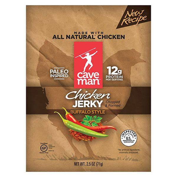 Caveman Foods Buffalo Style Chicken Jerky 2.5 oz.
