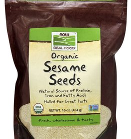 NOW Sesame Seeds, Organic, 16oz