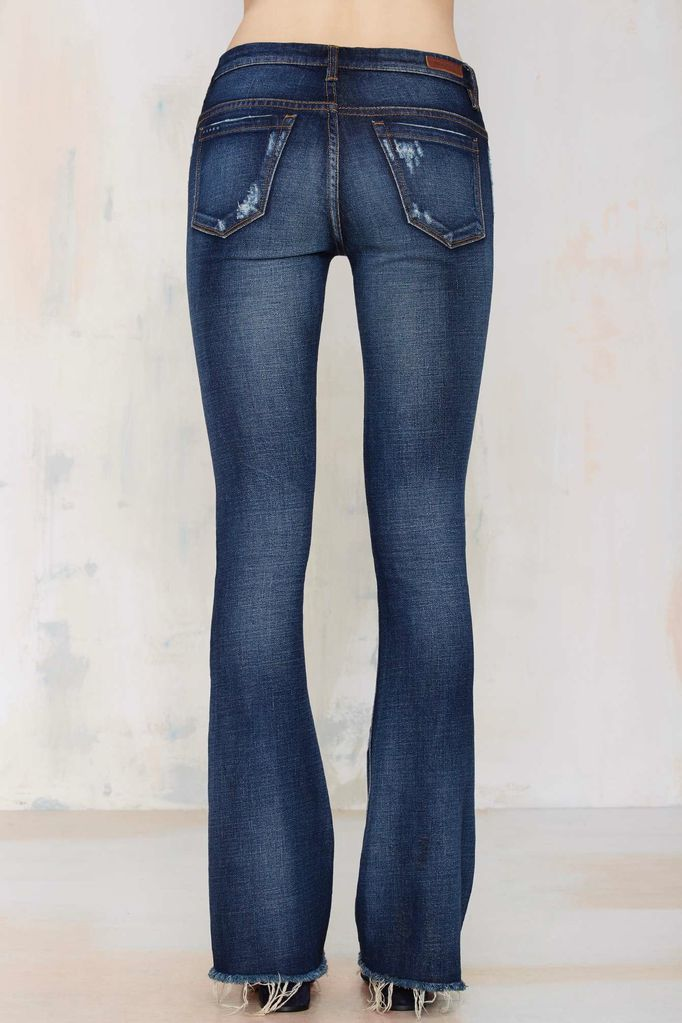 BlankNYC D.A.R.E. Flare Leg Destroyed Jeans