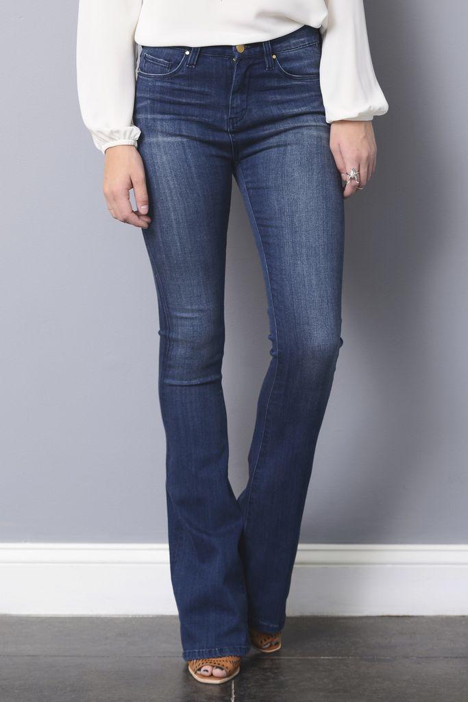 BlankNYC Brotox Medium Wash High Rise Flare Jeans