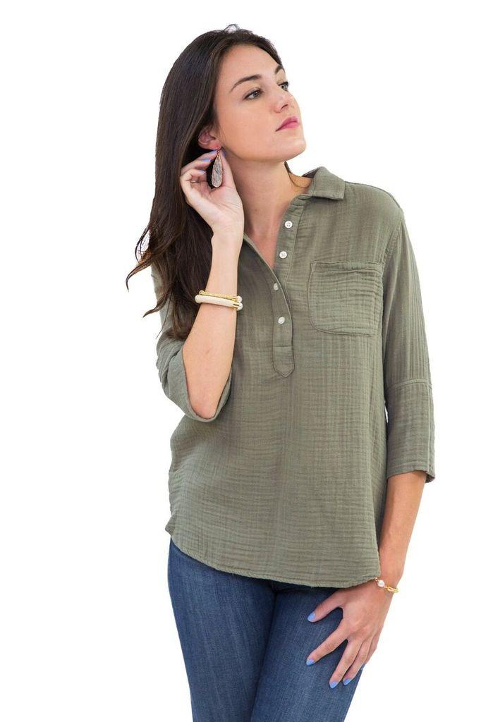 Felicite Pullover Placket Shirt