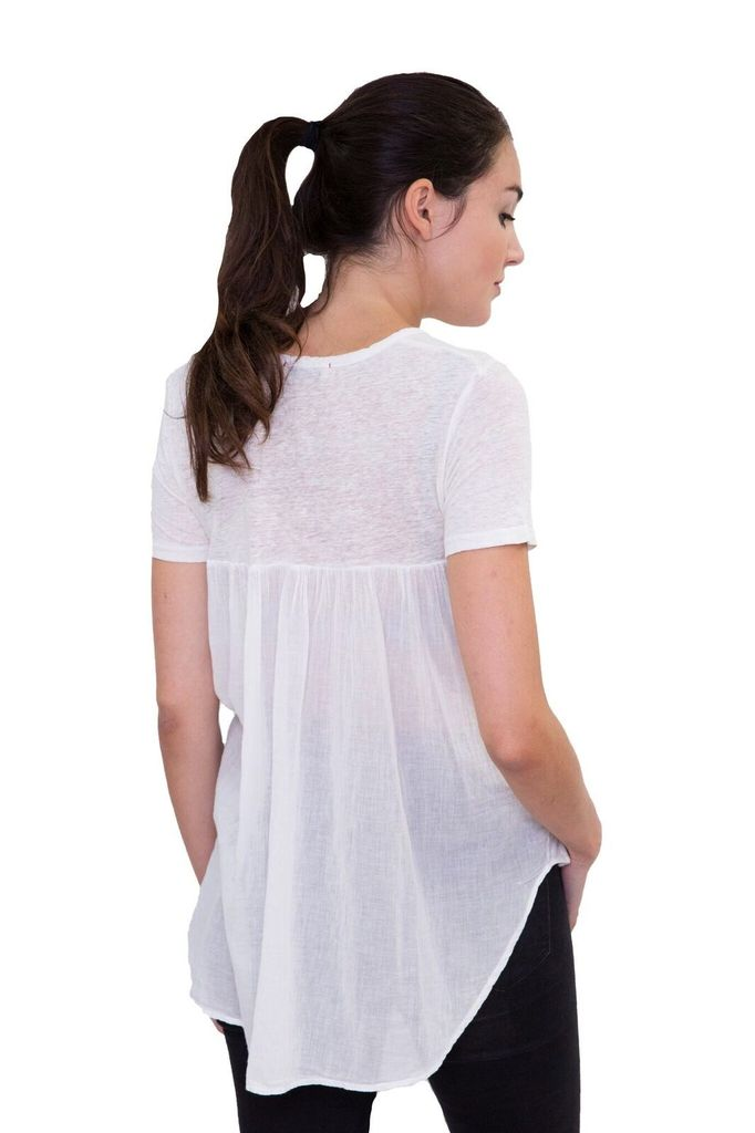 StarkX Linen Tee with Cape back
