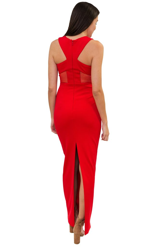 Bariano Kathy V-neck Column Gown
