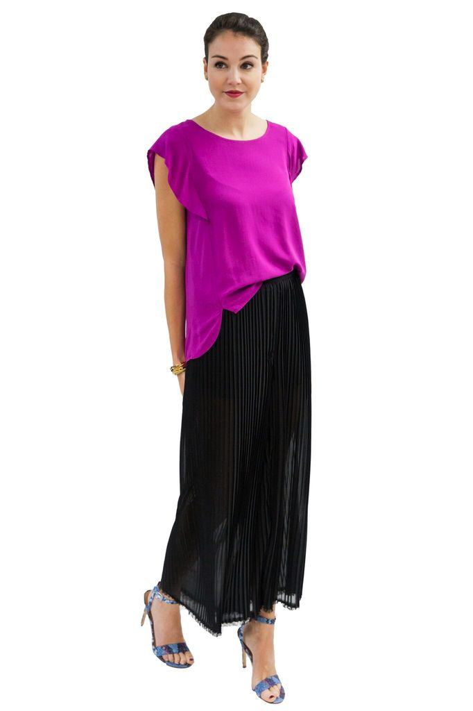 New Friends Colony Pleated Pant with hem detail