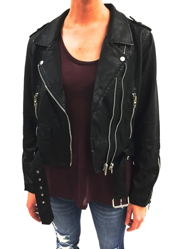 BlankNYC Squad Goals Vegan Leather Jacket