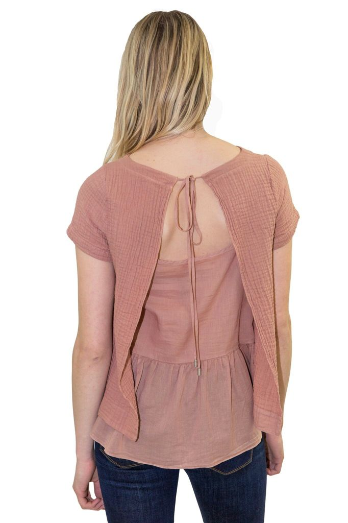 AMADI Carol Open Back Top