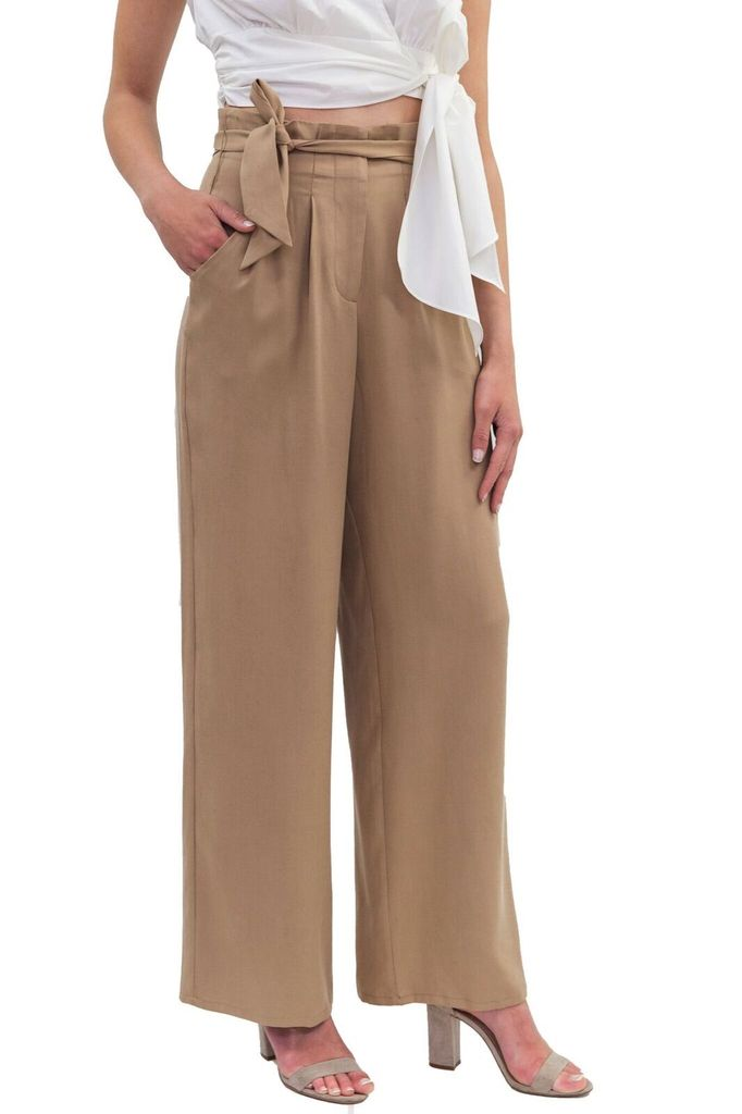 New Friends Colony Wide leg trouser pant with ruffle