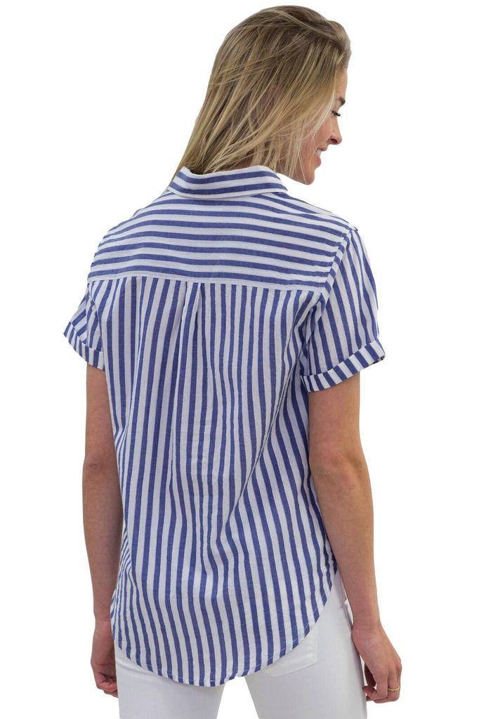 Velvet Women Alyss S/S Striped Shirt