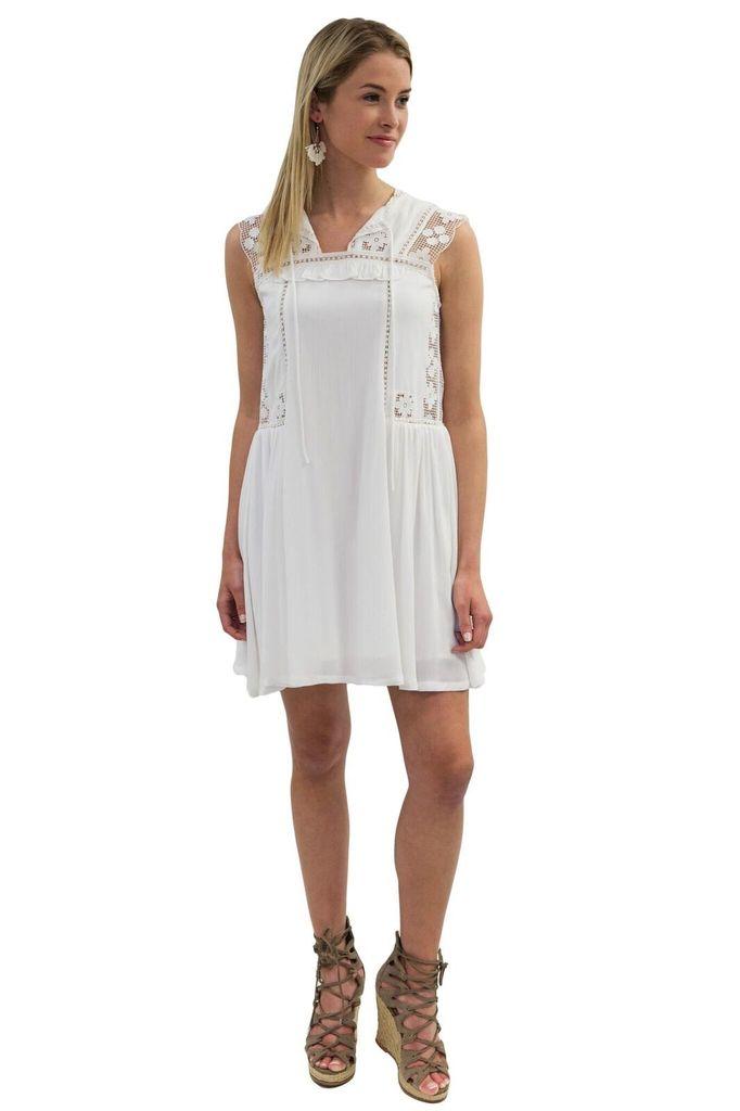 SEE YOU SOON Flowy White Dress