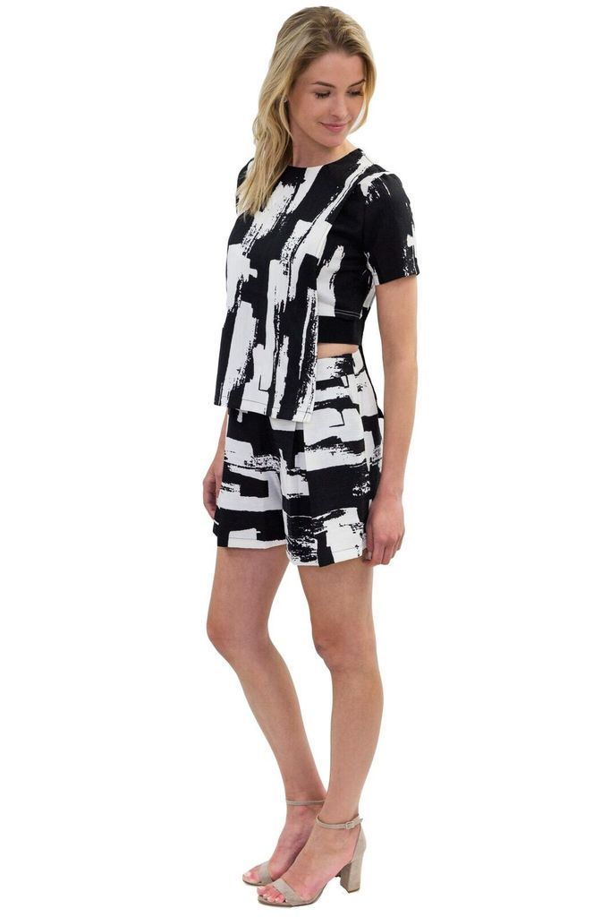 MAAC London Pole Black and White Top
