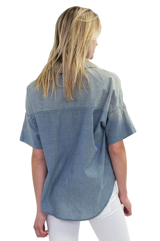 Sundry Love Always inscribed faded Chambray Shirt