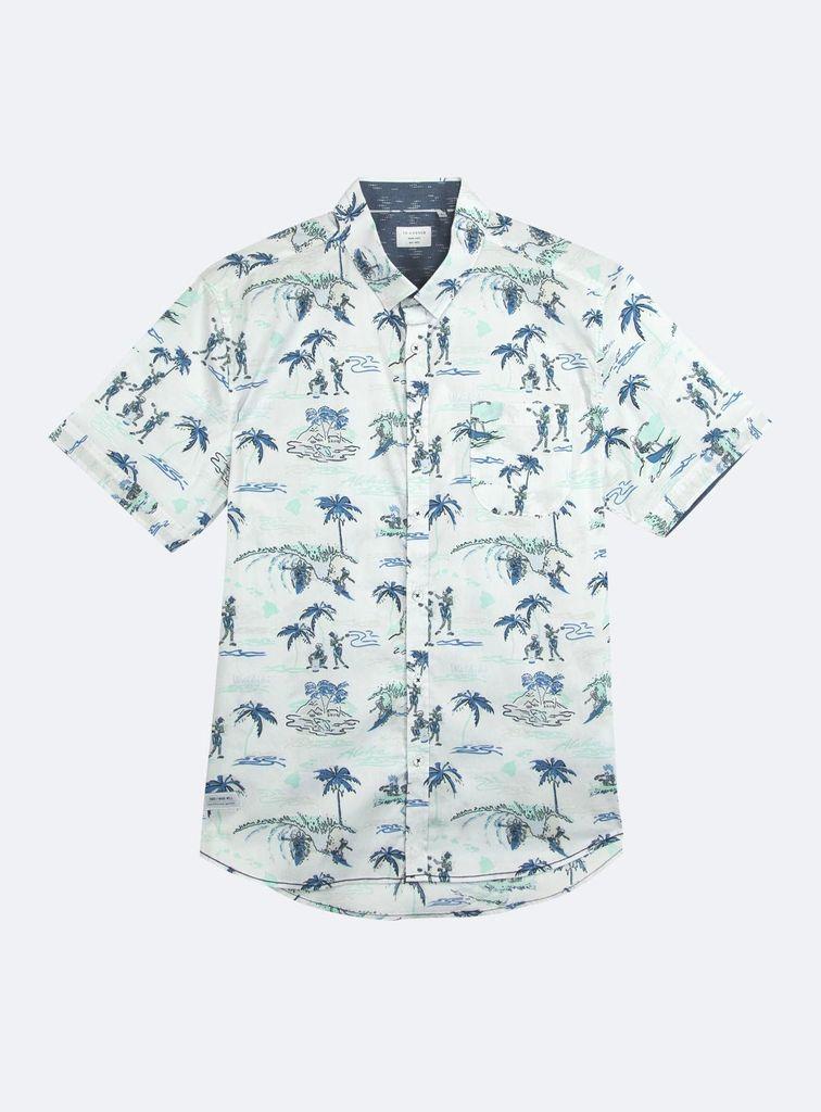 7 Diamonds Sun Daze shirt by 7 Diamonds has little Hula-ing skeletons!