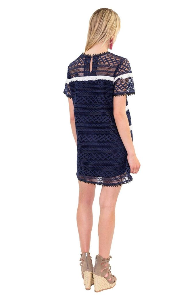 ZERO 2 SKY Fringe Tape Dress