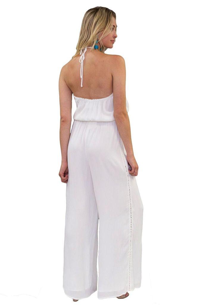 JETSET DIARIES Golden Island White Jumpsuit