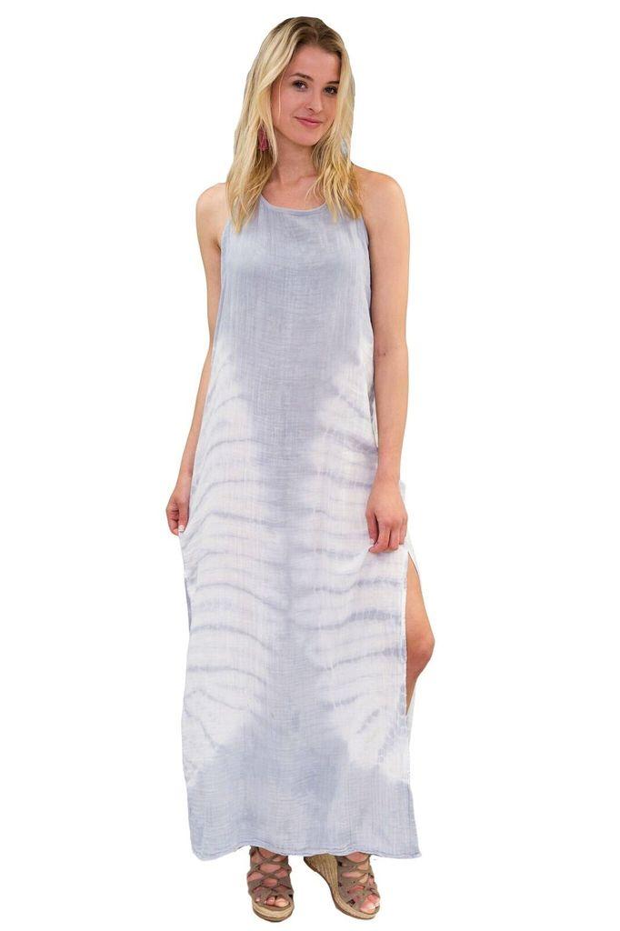Felicite Racer Tye Dye Maxi Tank Dress
