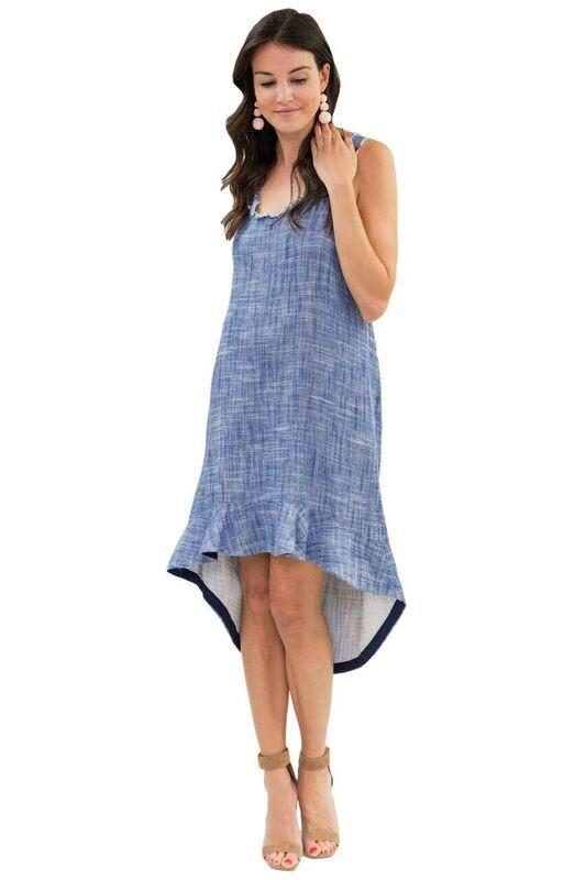 AMADI Penelope Ruffle Hem Dress