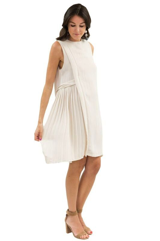 MAAC London Side Pleat Dress