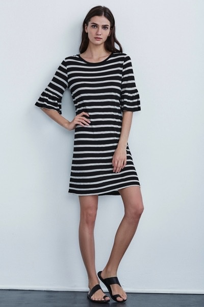 Velvet Women Andena Cotton Modal Stripe Dress