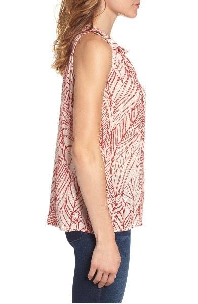 Velvet Women Catrina Palm Print Top