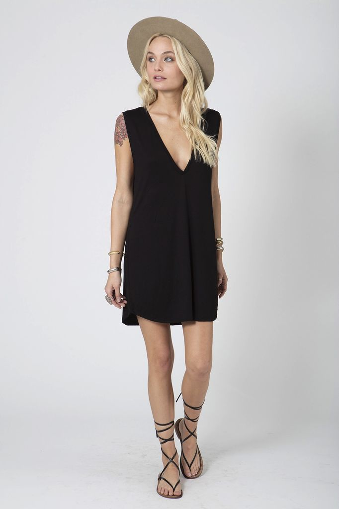 STILLWATER U Neck Tank Mini Dress