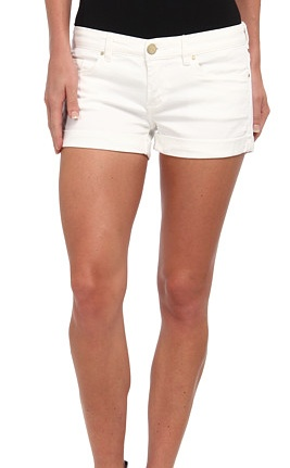 BlankNYC White Lines Shorts, White