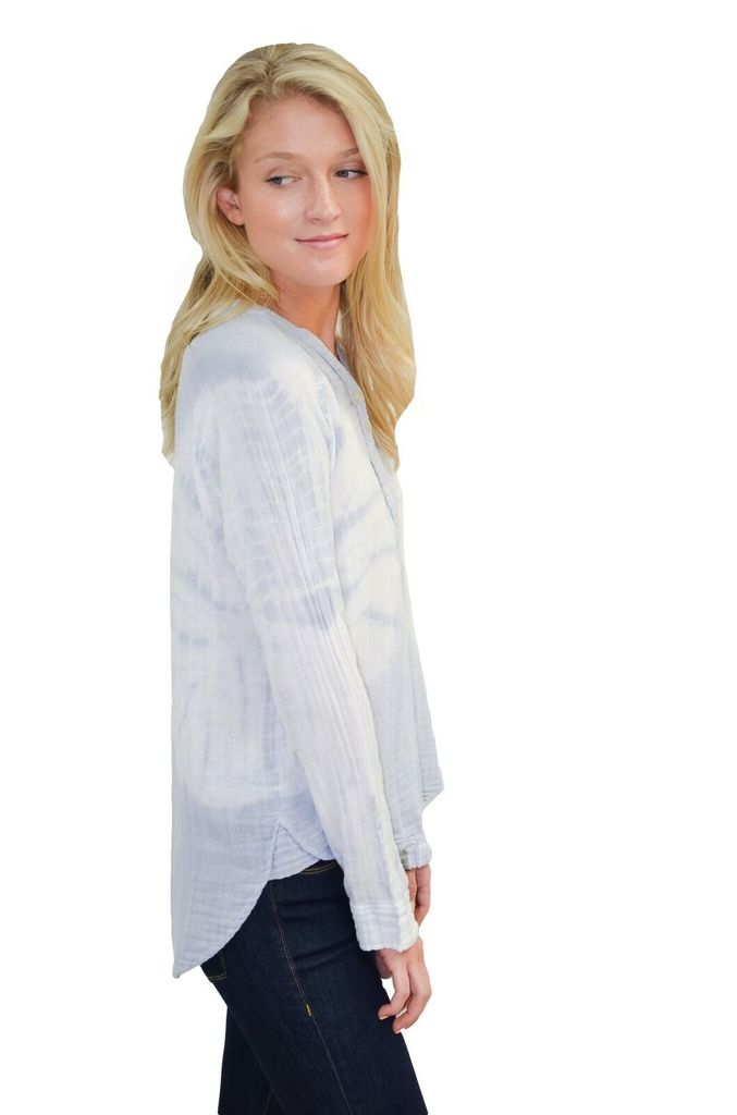 Felicite Thin Collar Placket Tye Dye Shirt