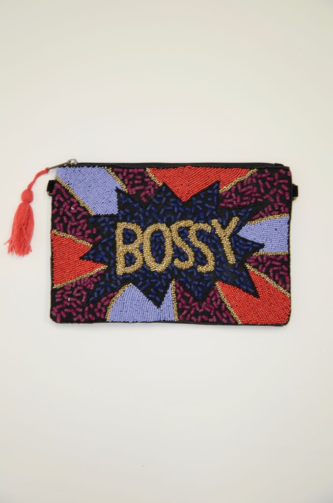 America & Beyond BOSSY beaded evening clutch