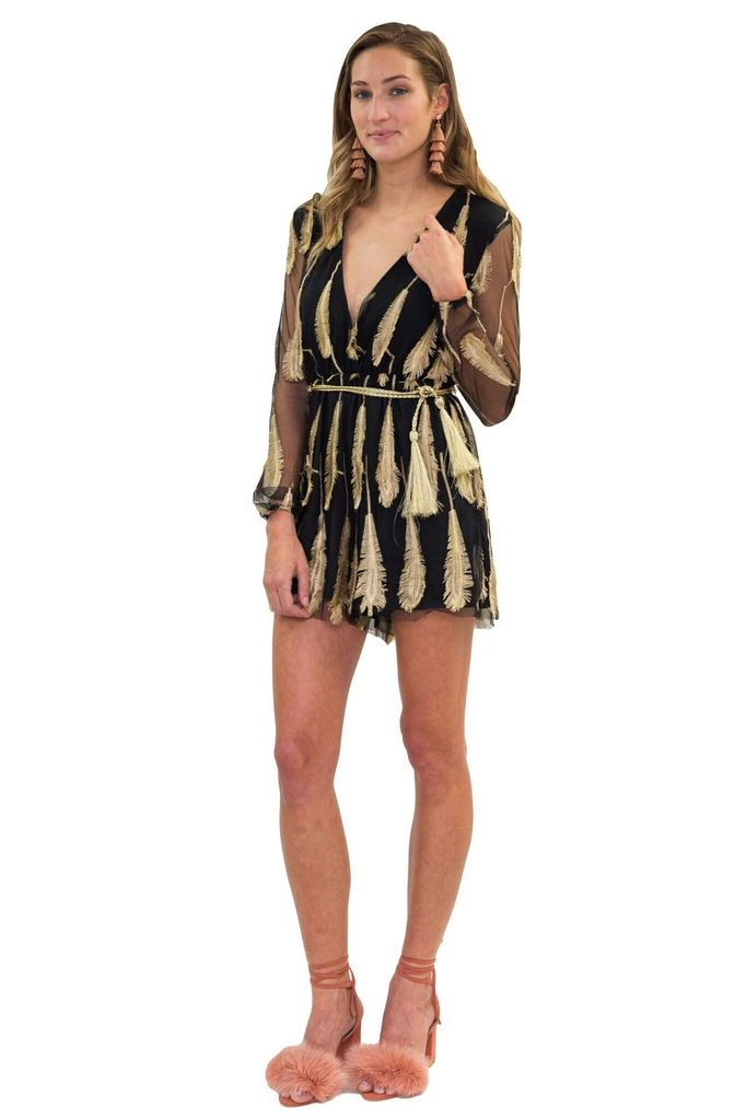 Forever Unique Tammy Feather Romper