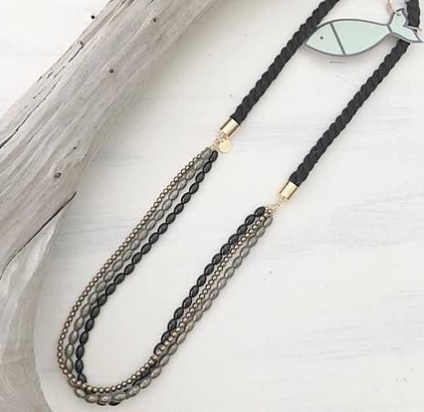 Little Fish Boateak Brant Point Necklace - Black