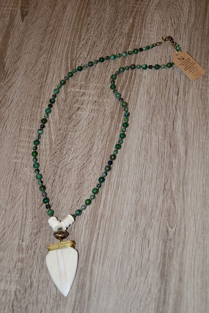 burnmark Bedford Necklace - Ruby Zoisite