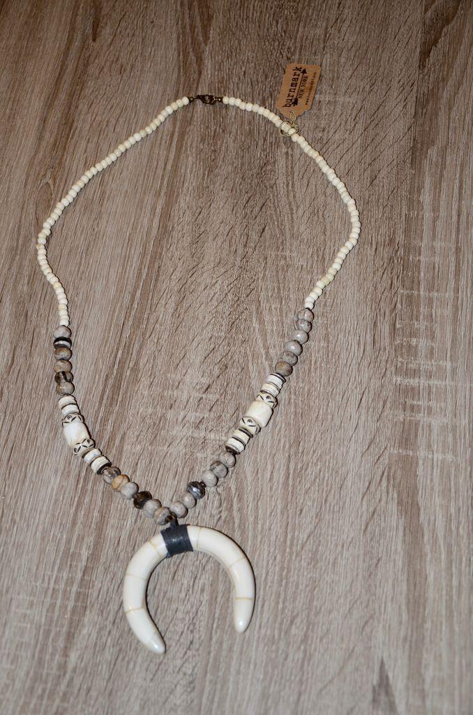 burnmark Perry Necklace - Jasper & Batik Bone
