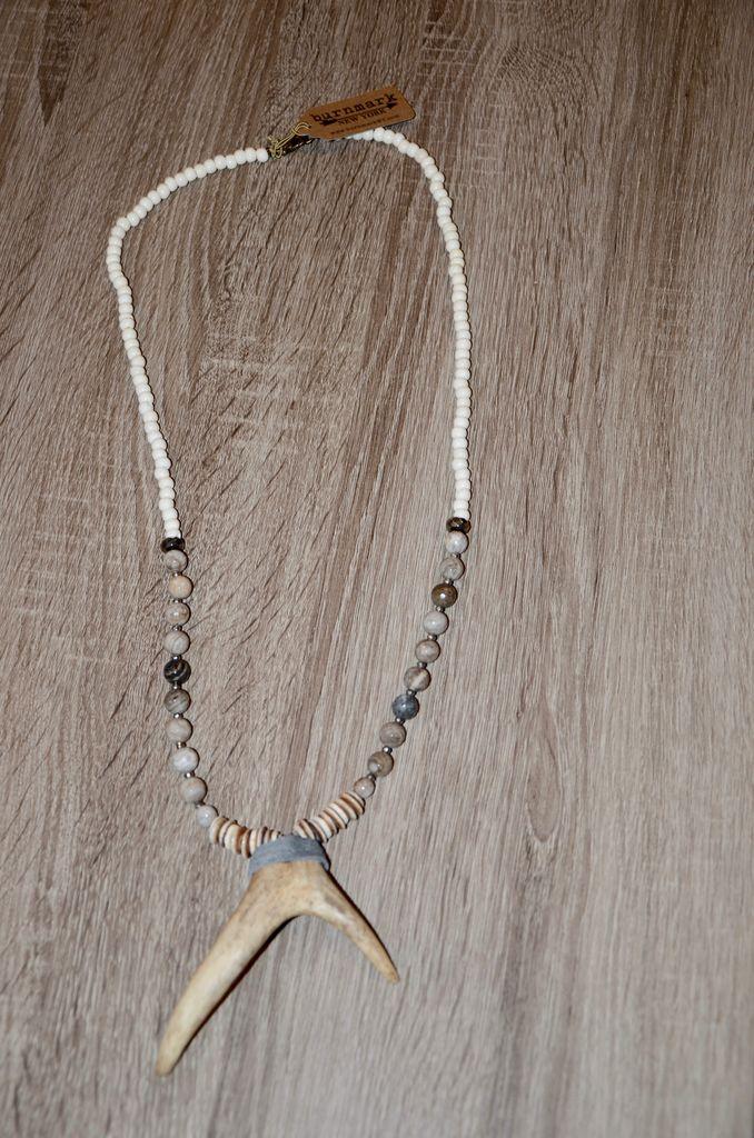 burnmark Bowery Necklace - Fog