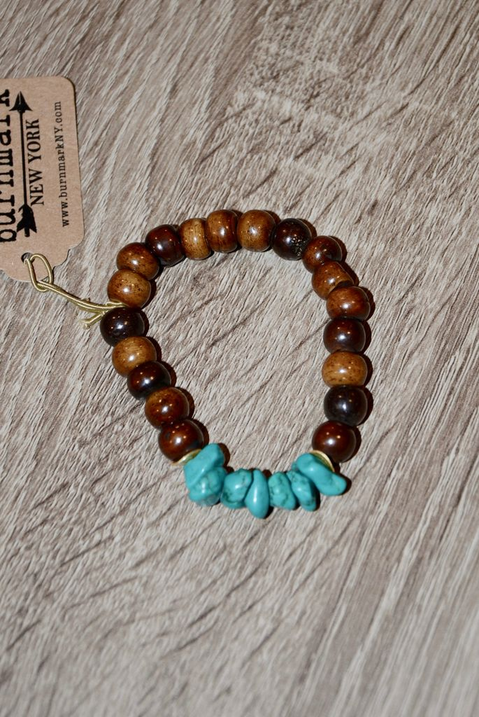 burnmark Summber Bracelet - Turquoise & Bone