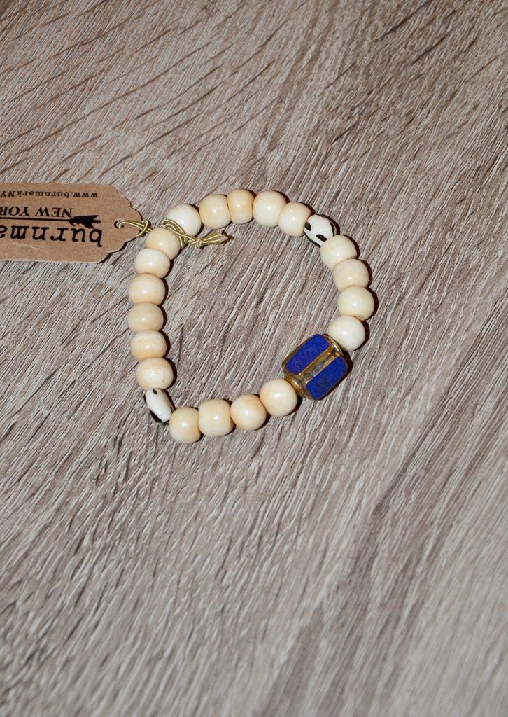burnmark Summer Bracelet- Antique Lapis Charm