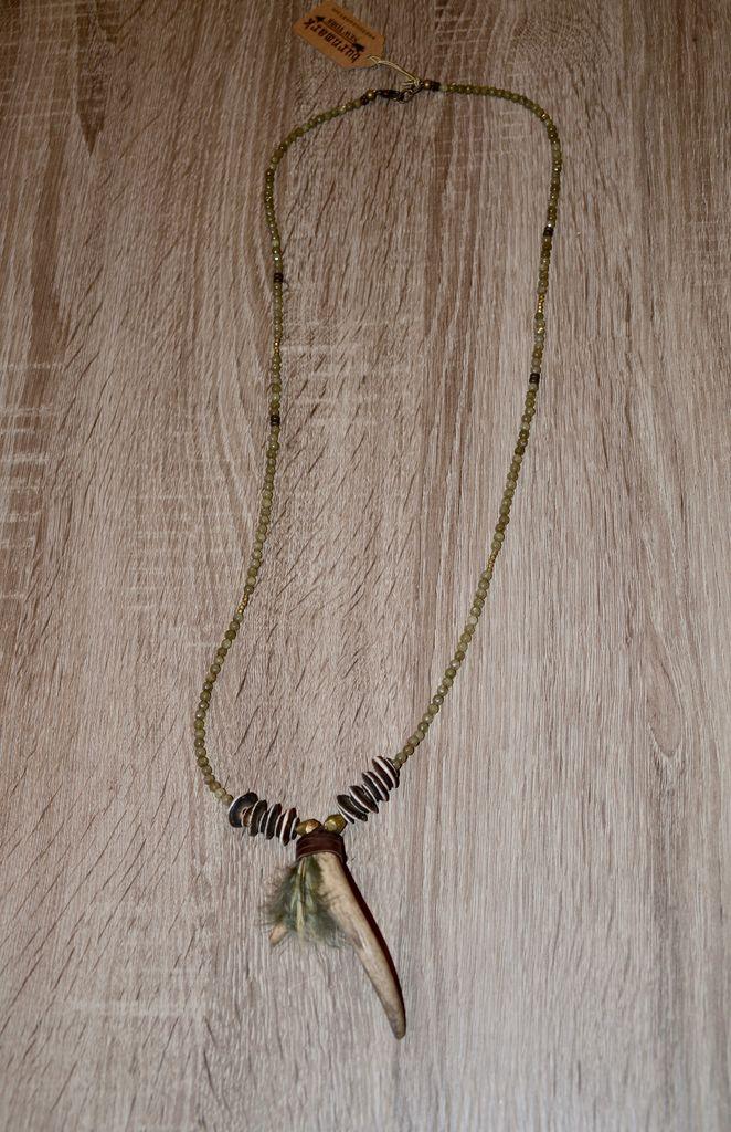 burnmark Bowery Necklace - Sage Jade