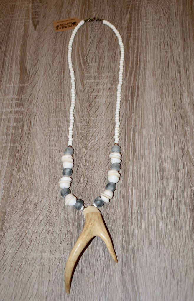 burnmark Bowery Necklace - Seaglass & Mauritania shells