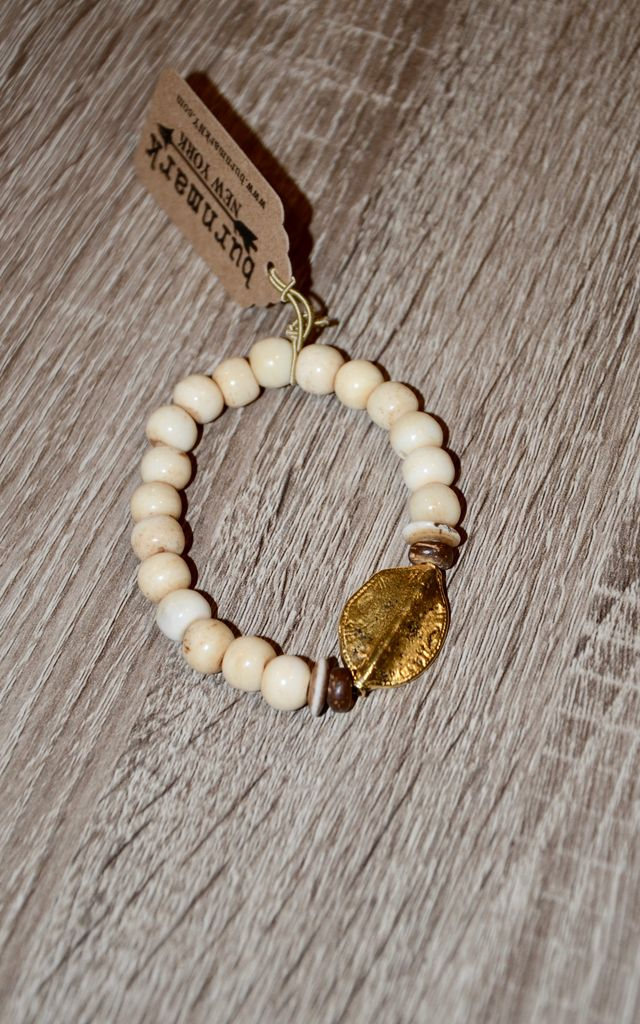 burnmark Bali Bracelet - Gold Leaf