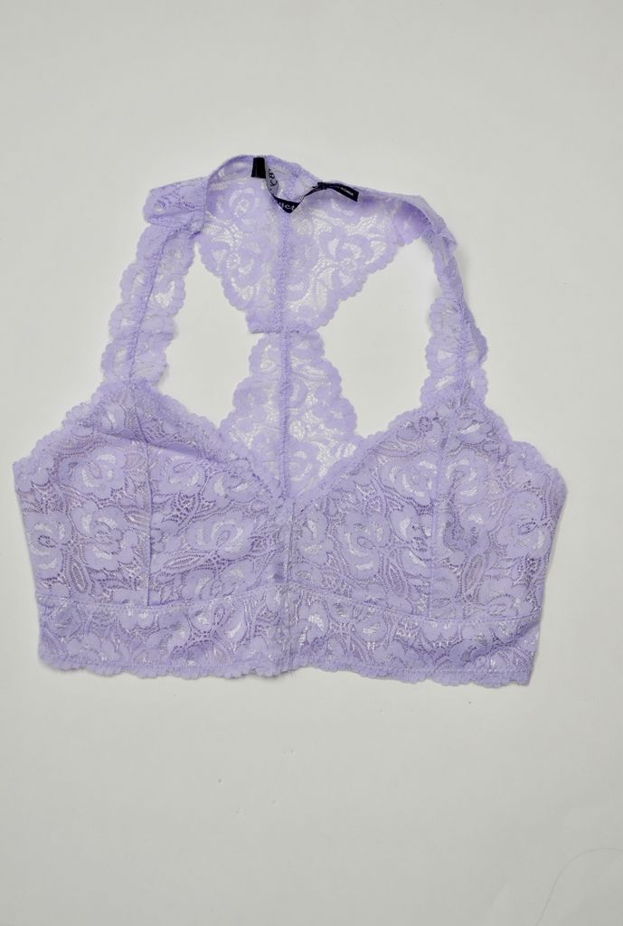 By Together Lavender Racerback Lace Bralette