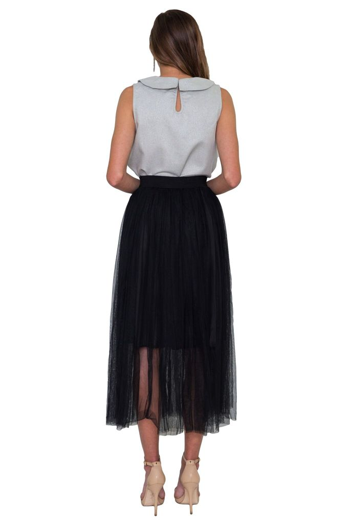 Comme Toi Pleated Tulle Skirt
