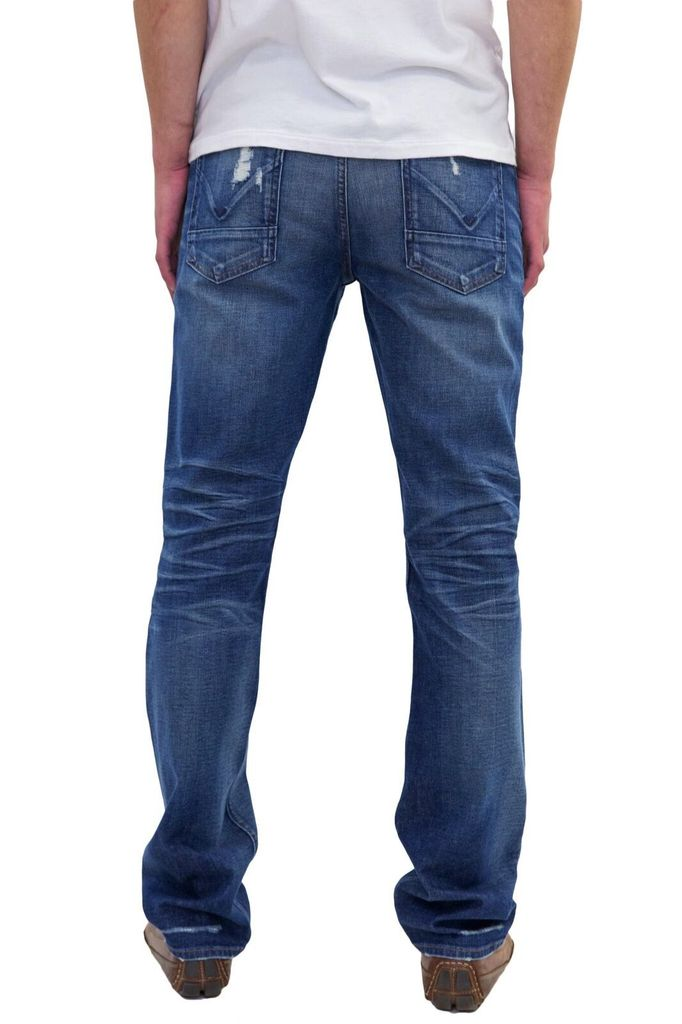 Hudson Byron 5 Pocket Straight, Light wash distressed jean