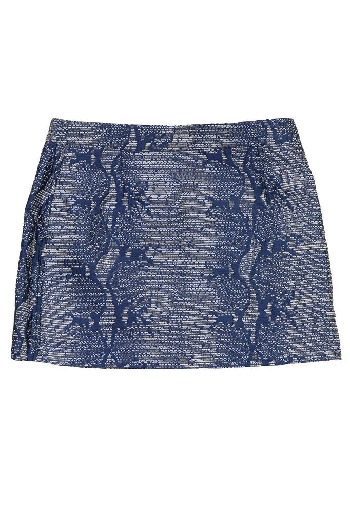 MAAC London Blue, White and Gold Flecked Skirt