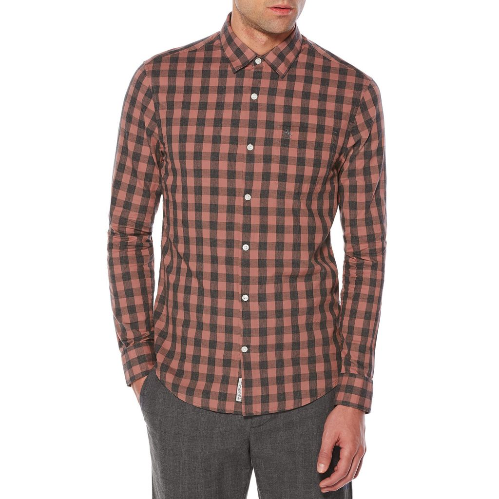 Original Penguin Heathered Buffalo Check Shirt