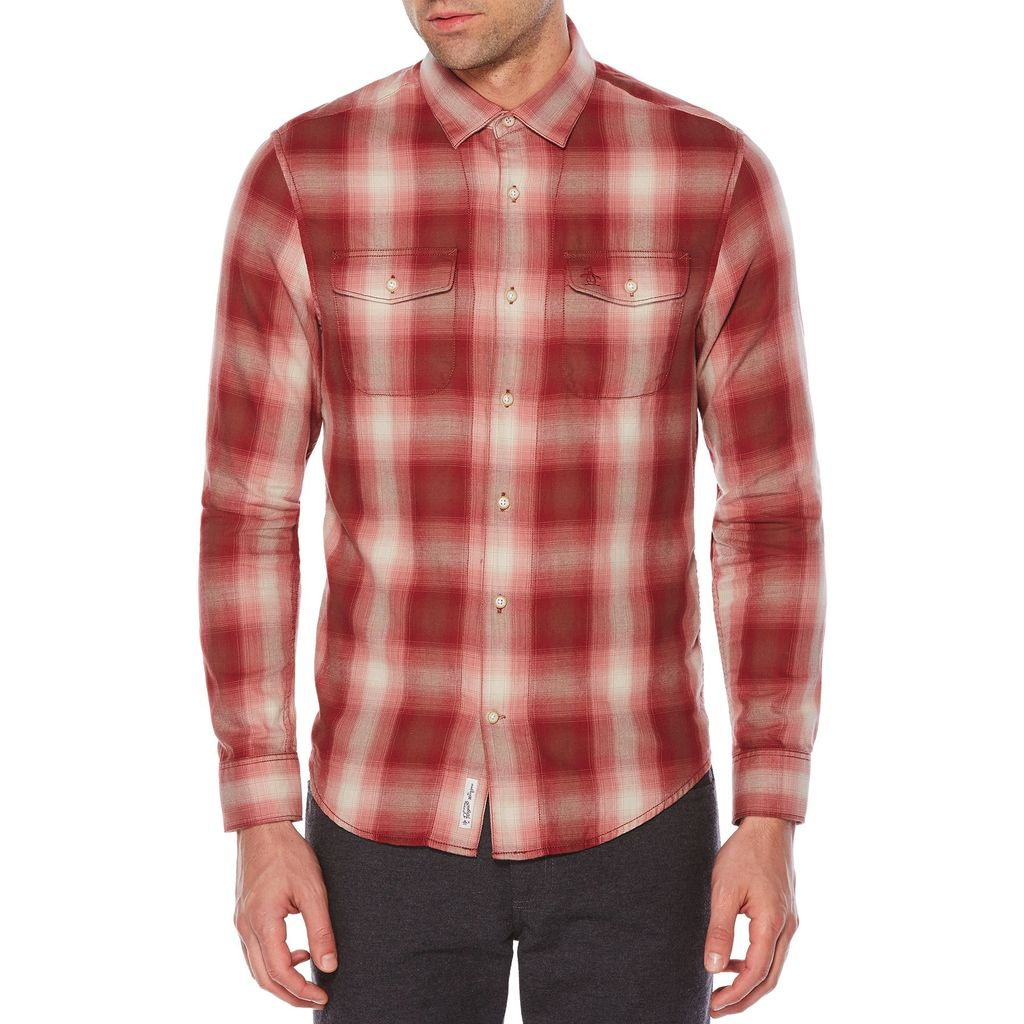 Original Penguin Plaid Flannel Shirt