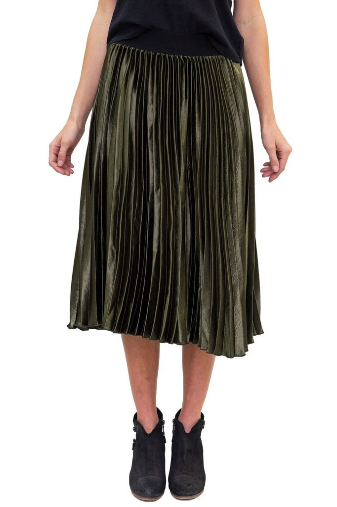 SEE YOU SOON Pleated Accordian Skirt