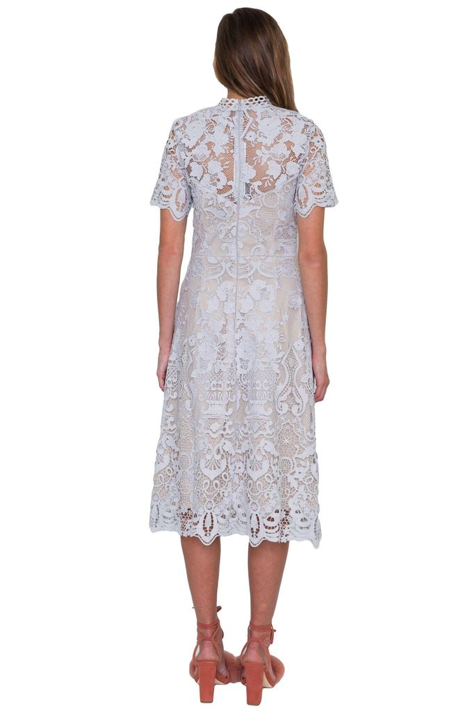 Shilla The Label Ornate Lace Midi Dress