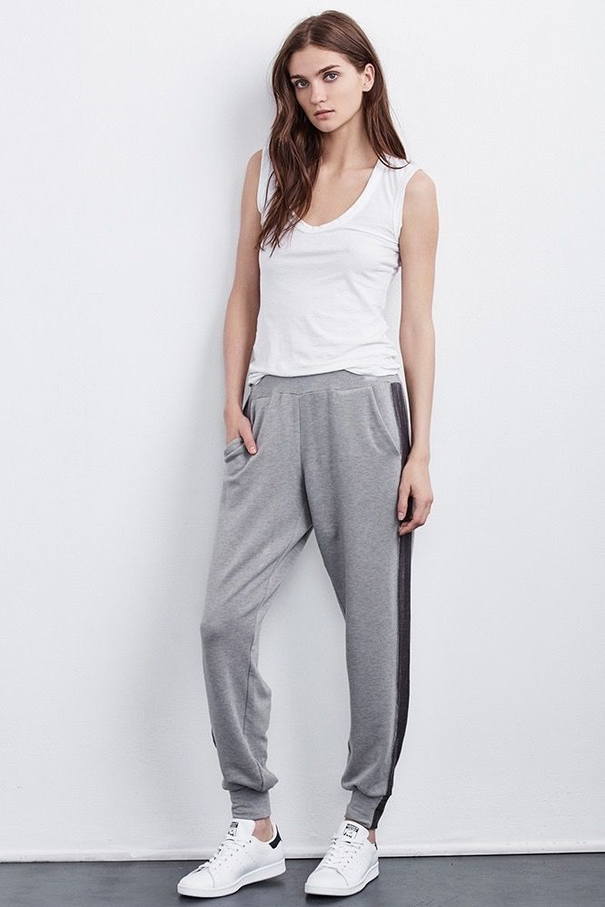 Velvet Women Bexley Silk Velvet Fleece Track Pant