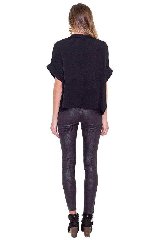 MAAC London Oil waxed black pant