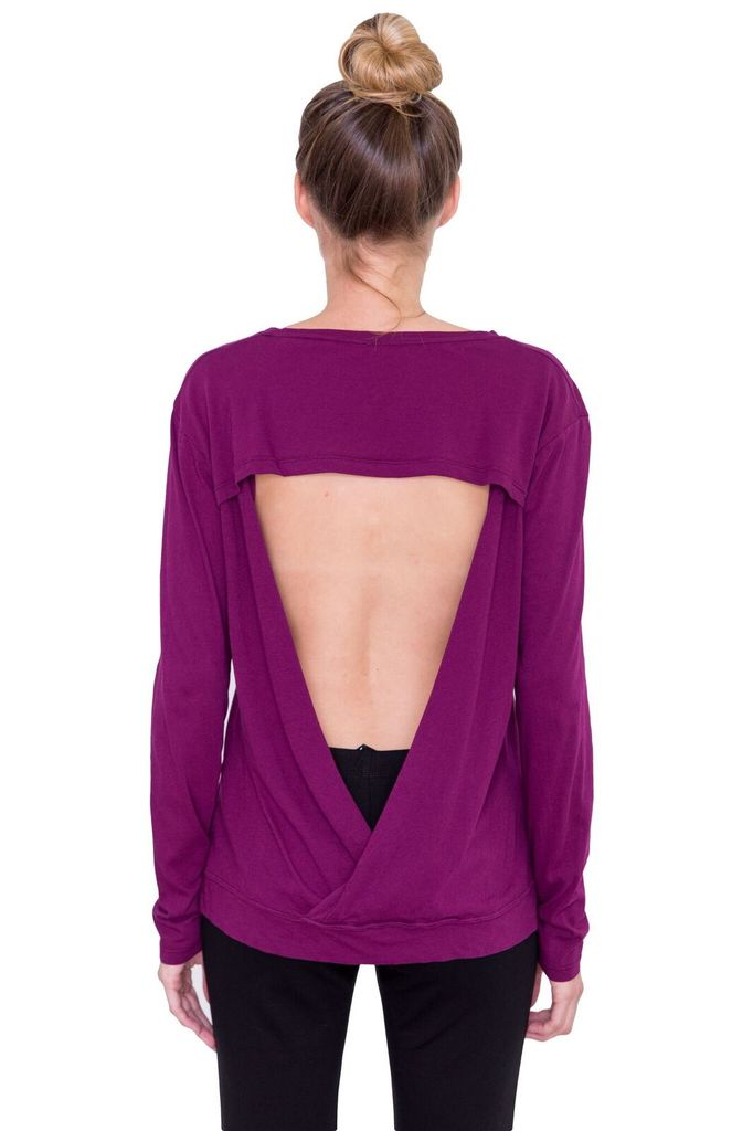BOBI Open back L/S Tee